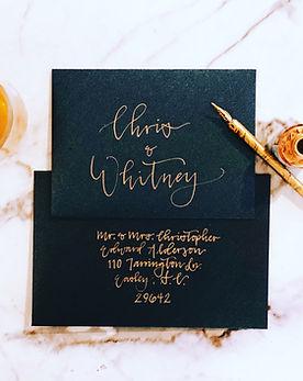 Calligraphy Invitation Addressing