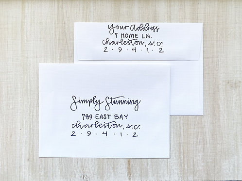 Simply Stunning Invitation Addressing