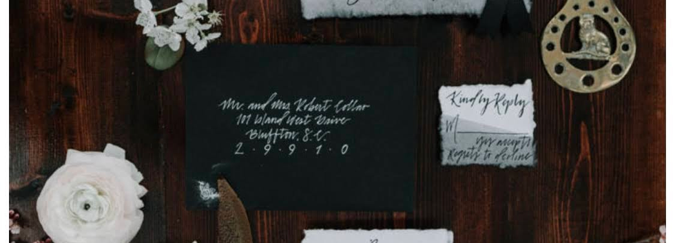 Handmade Dyed Paper Invitation Suite