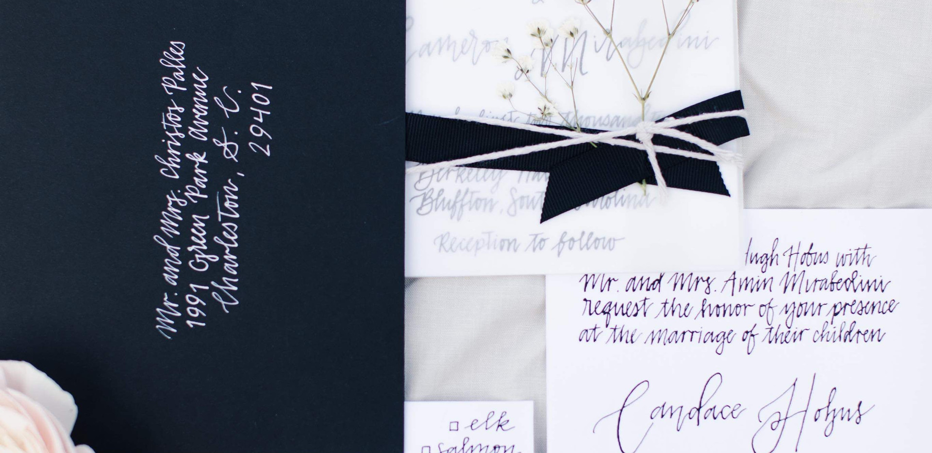 Classic Black and White Invitation Suite