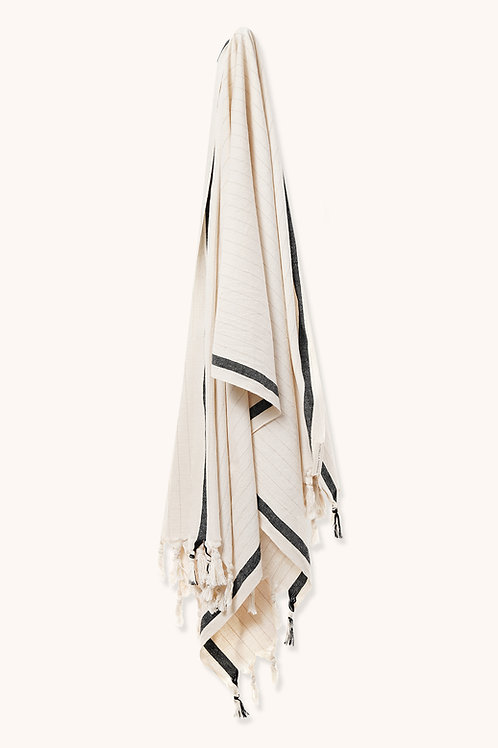 BOHO STYLE TOWEL OFF WHITE & BLACK LINE
