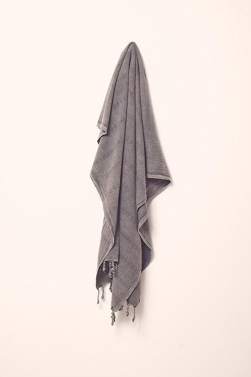 LUXE TOWEL STONEWASHED BLACK