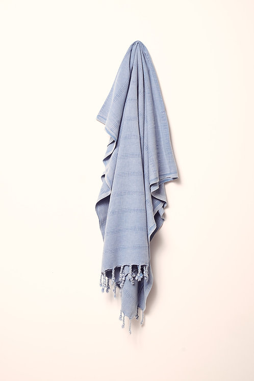 LUXE TOWEL STONEWASHED DENIM BLUE