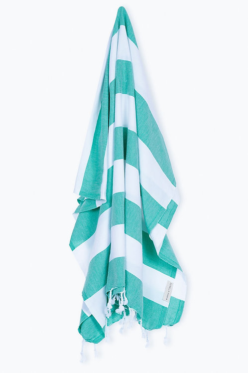 TOWEL SEA GREEN &  WHITE
