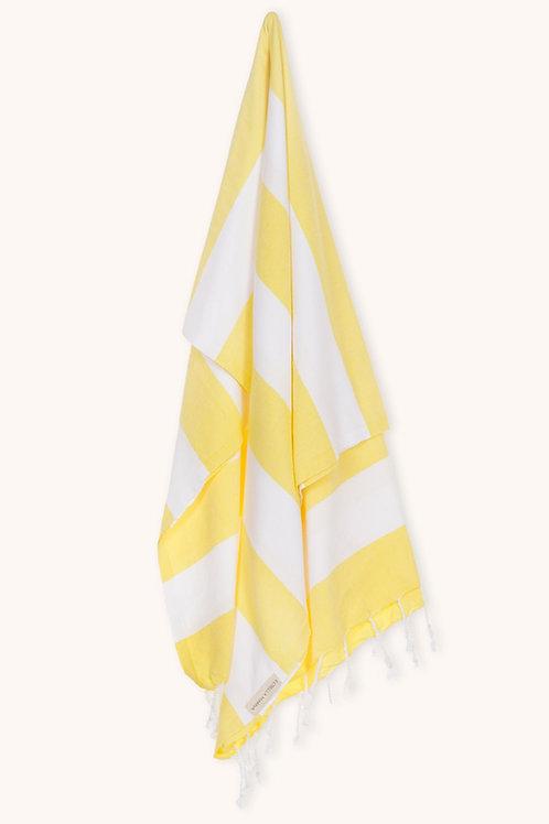 TOWEL BRIGHT YELLOW & WHITE