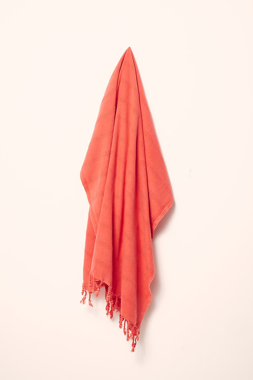 LUXE TOWEL STONEWASHED CORAL