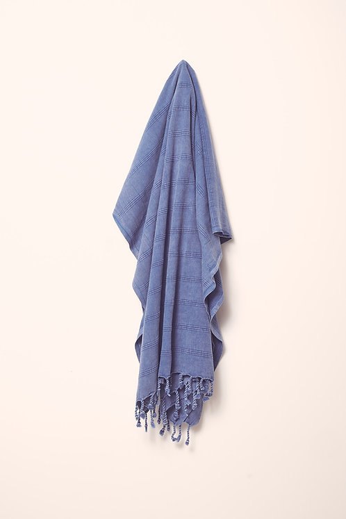 LUXE TOWEL STONEWASHED BLUE