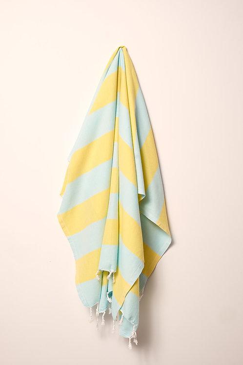 TOWEL MINT & BRIGHT YELLOW