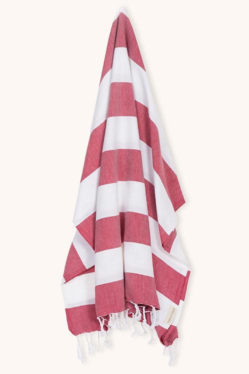 TOWEL RED CHERRY & WHITE