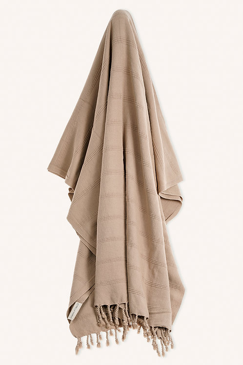LUXE TOWEL STONEWASHED SAND