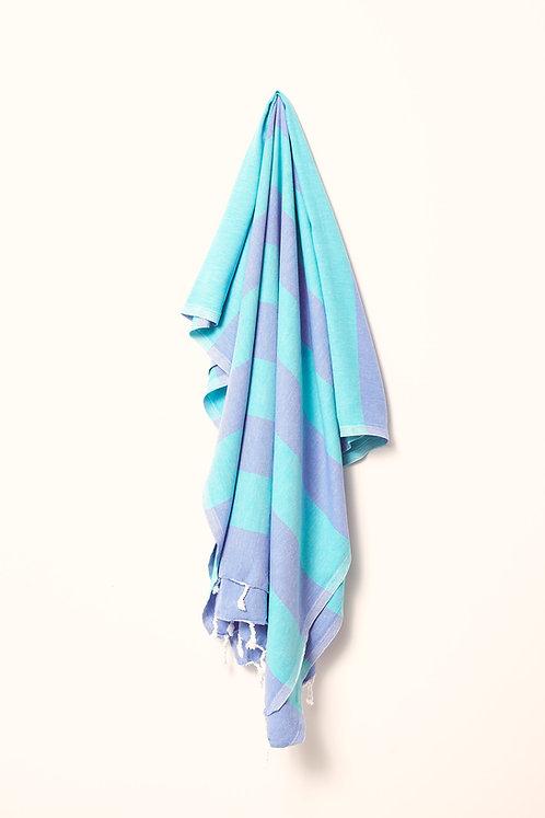 TOWEL ROYAL BLUE & SEA GREEN