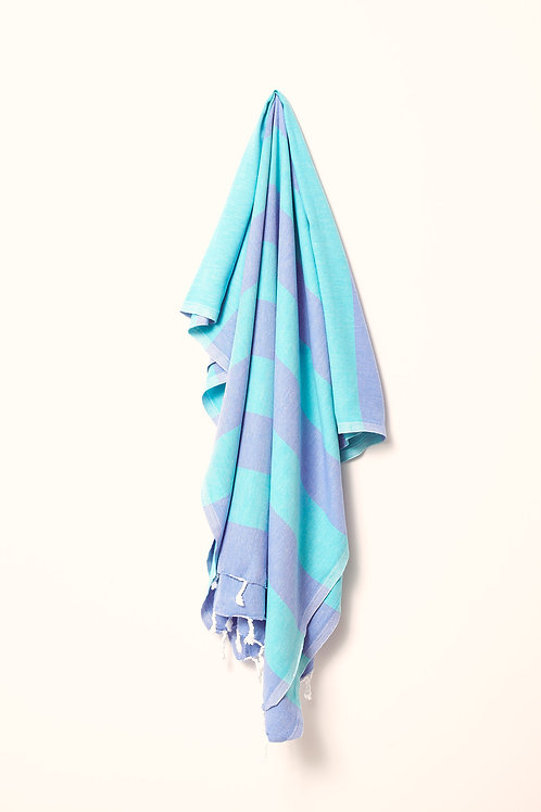 TOWEL ROYAL BLUE & SEA GREEN