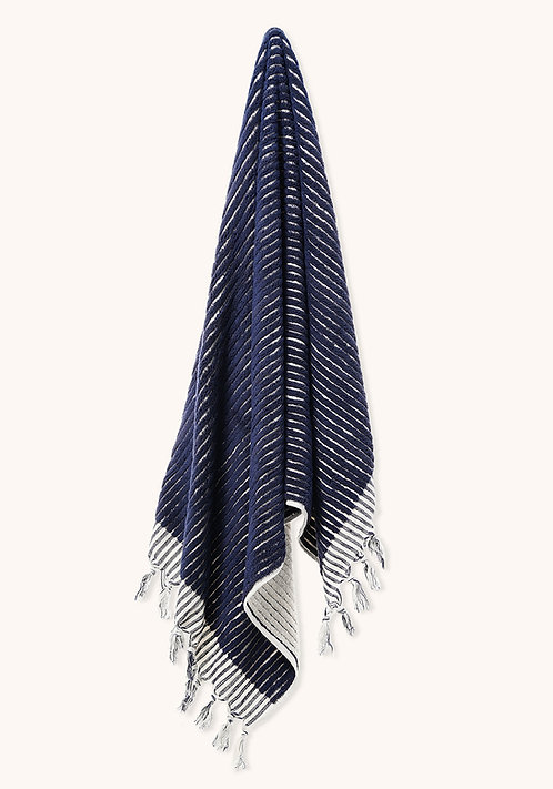 DESIGNER DARK BLUE LINES TOWEL