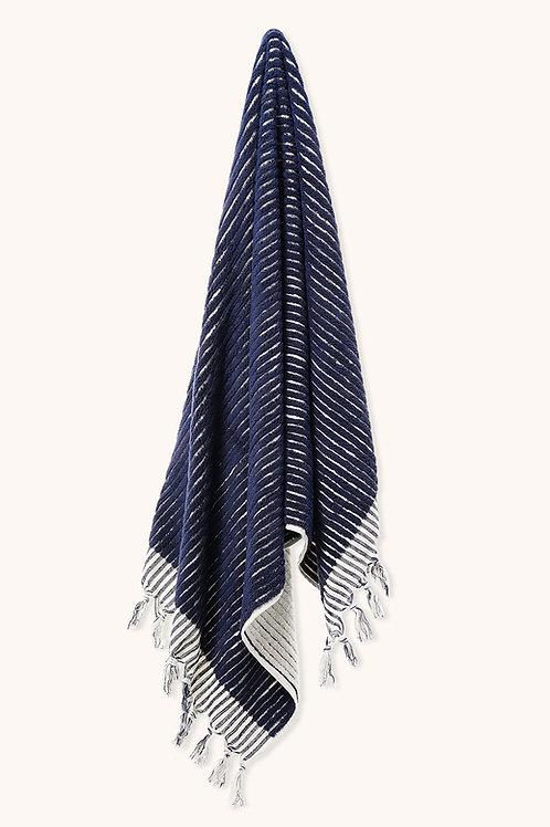 DESIGNER DARK BLUE LINES TOWEL