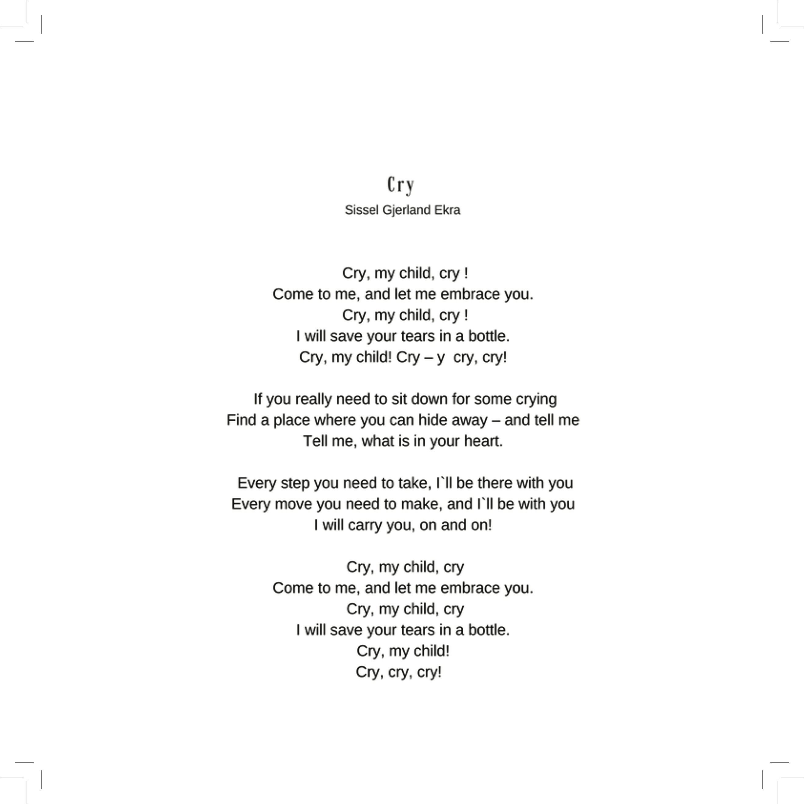 Cry - Lyrics