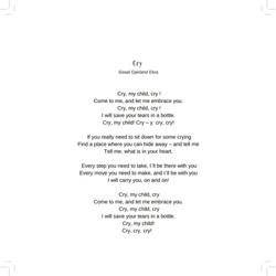 Cry - Lyrics
