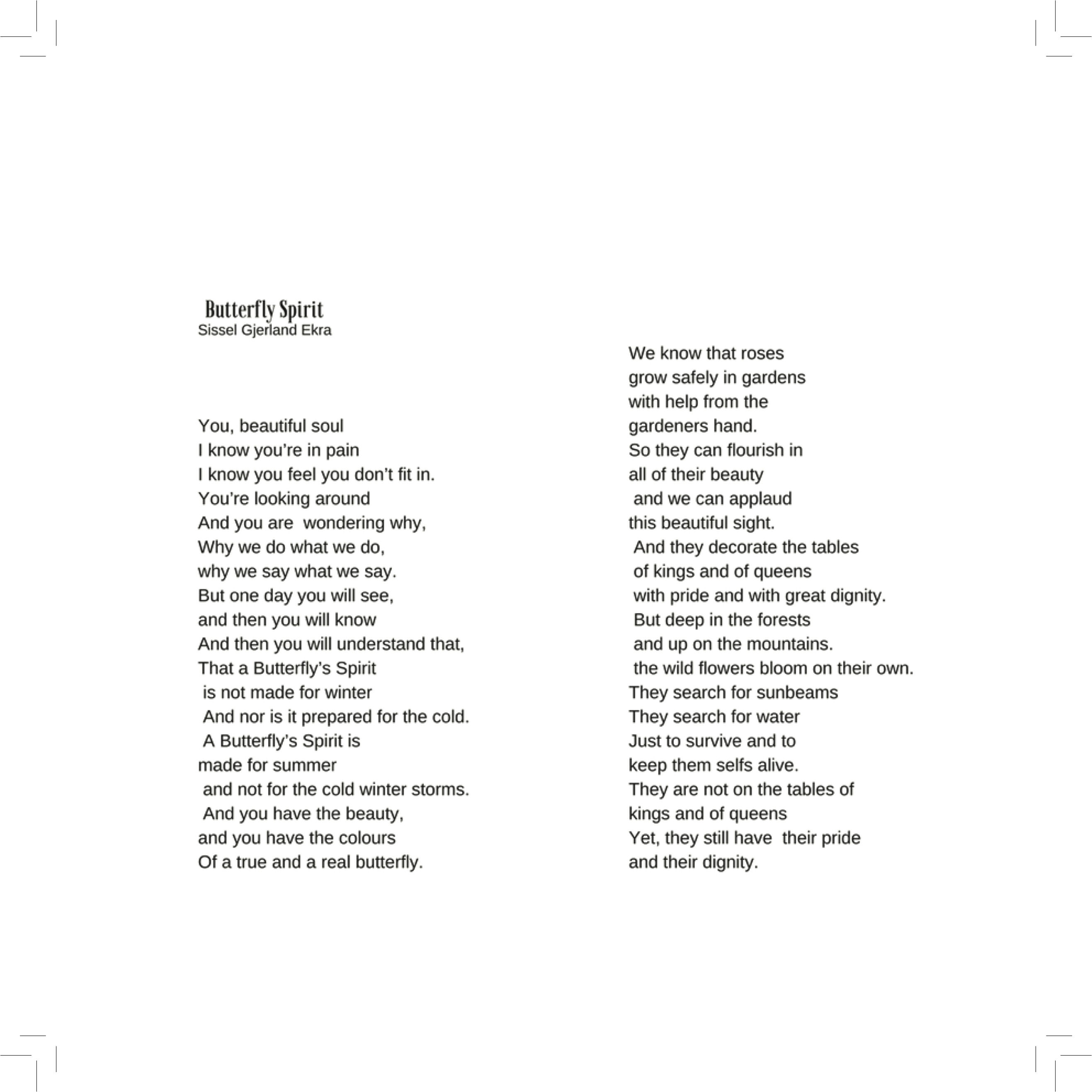 Butterfly Spirit - Lyrics