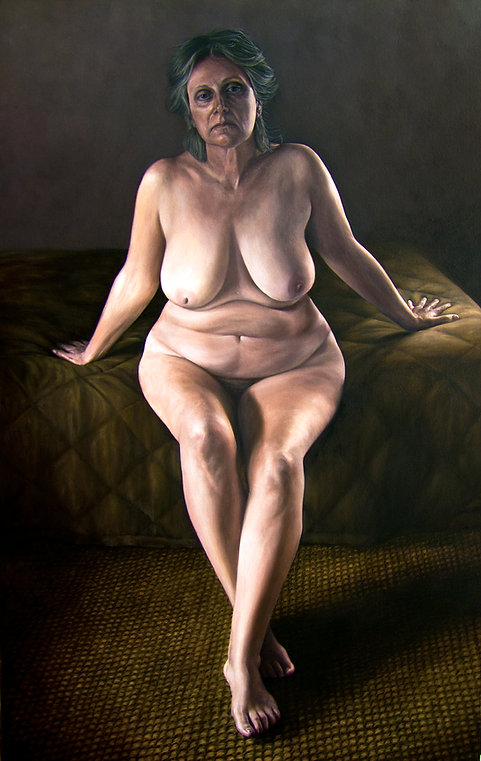 Painting by Gourlay-Conyngham of a nude woman