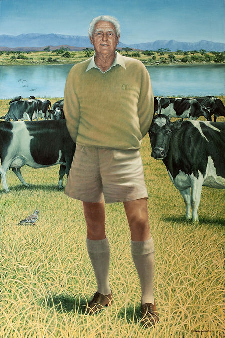 Portrait by Gourlay-Conyngham of Escourt dairy farmer Douglas Ralfe, in the collection of Michaelhouse School