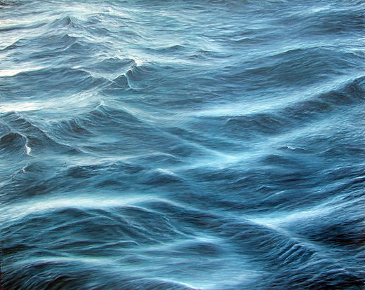 Painting by Gourlay-Conyngham of ocean surface