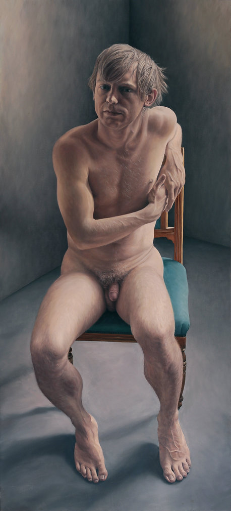Gourlay-Conyngham's portrait of a nude male which won the inaugural Sanlam Portrait Award Competition in 2013