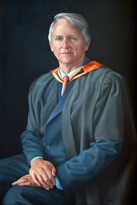 Commissioned portrait by Gourlay-Conyngham of headmaster David Wilkinson, collection of St Anne's Diocesan College