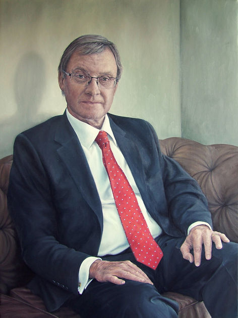 Portrait painting by Gourlay-Conyngham of Sanlam CEO Desmond Smith in the Sanlam collection