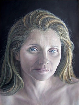 Portrait painting by Gourlay-Conyngham of Michele Wing
