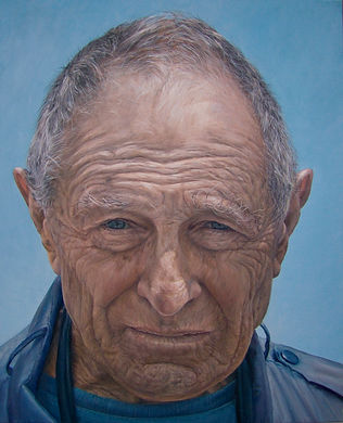 Portrait painting by Gourlay-Conyngham of David Goldblatt in Sanlam Art collection