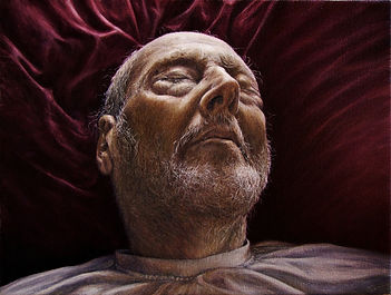 Commissioned portrait by Gourlay-Conyngham of Herwig Vanderhagen on his deathbed