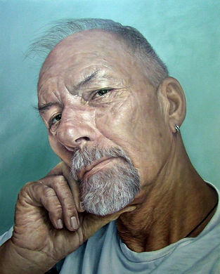 Portriat painting of Andre du Toit by Heather Gourlay-Conyngham