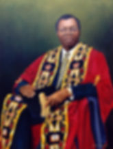 Commissioned portrait of previous chief justice of the Constitutional Court, Pius Langa, last Chancellor of University of Natal