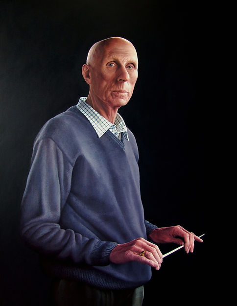 Portrait by Gourlay-Conyngham of musician and conductor Robin Walton