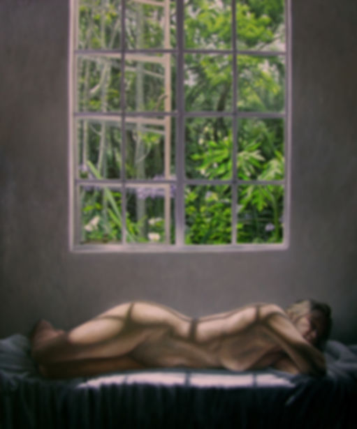 Painting of a nude in an interior