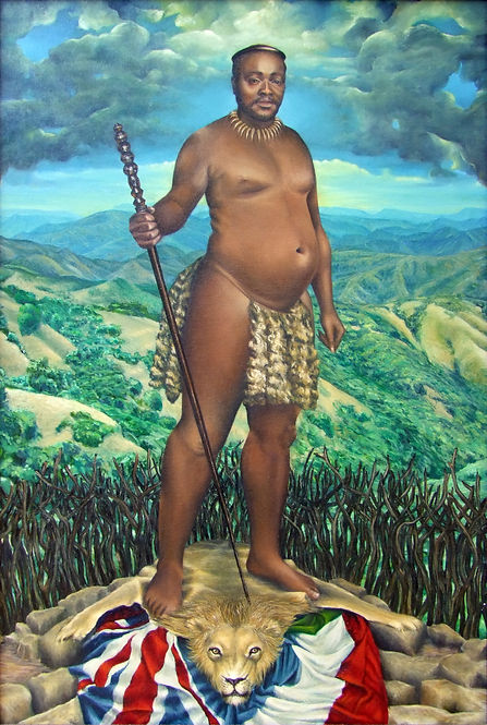 Portrait by Gourlay-Conyngham of Zulu King Cetshwayo kaMpande