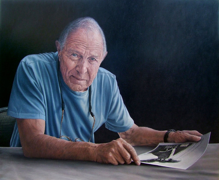 Portrait painting by Gourlay-Conyngham of photographer David Goldblatt