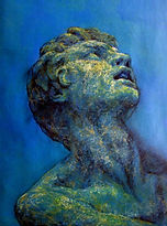 Pastel drawing by Gourlay-Conyngham of Classical sculpture