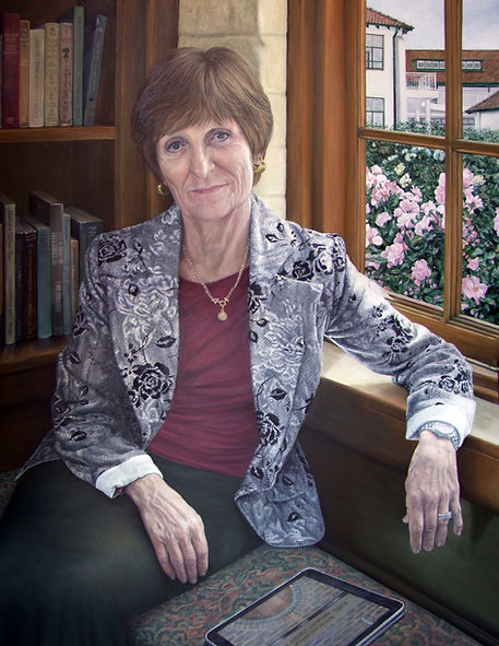 Commissioned portrait of Roedean headmistress Mary Williams by Gourlay-Conyngham