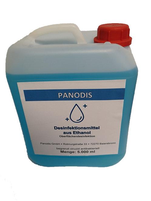 Panodis - Desinfektionsmittel nur für Oberflächen 3x 5000ml Kanister