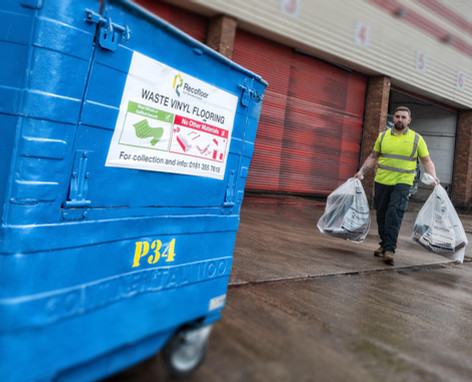 Recofloor collects and recycles waste vinyl flooring into new products