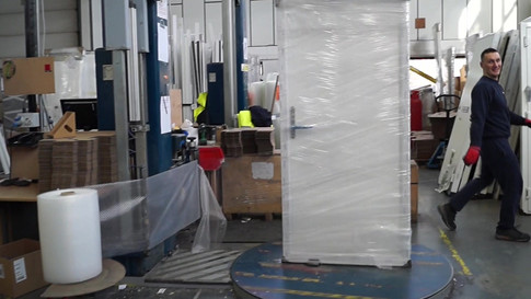Protecting composite doors prior to despatch and delivery