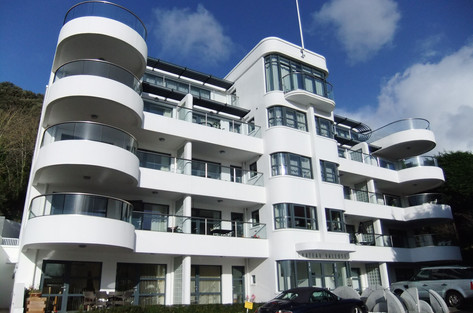 Beautiful glass balconies can be curved, as well as straight, and enhance views