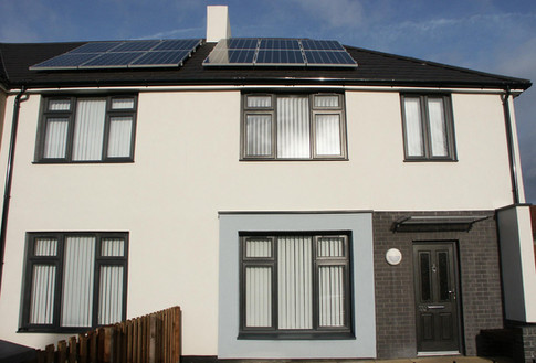 Formerly derelict homes transformed…including new PVC windows
