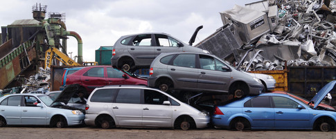 Waste plastics recycled from scrap vehicles go back into new automotive and other products