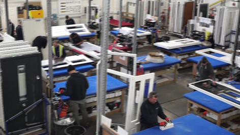 Manufacturing composite doors