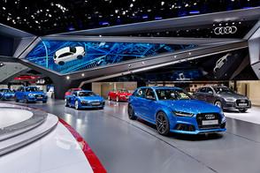 Audi's LED Multimedia Experience In Frankfurt