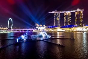 Claypaky Mythos powers trailblazing New Year's Eve light show in Singapore