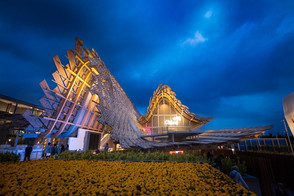 China's National Pavilion of Milan Expo 2015 CreateLED creates the innovative LED display of wheat w