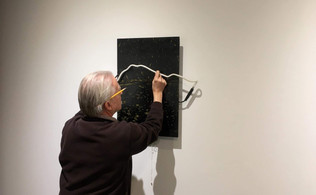 Jeff helps me to install the work