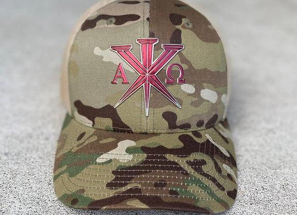 Multi-Cam Military trucker cap